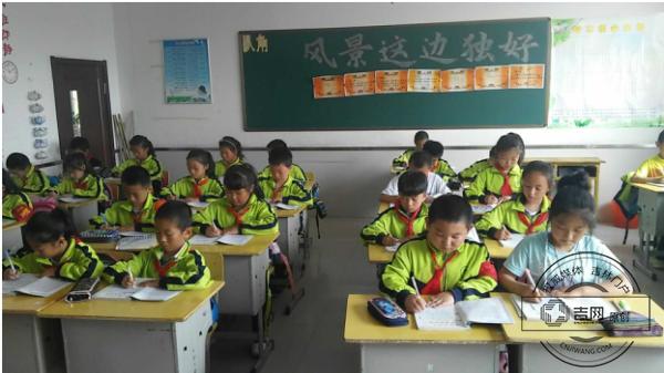 长白山池北区第三小学校开展写字抽测活动