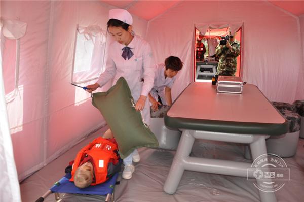 长白山公安消防支队组织开展抗洪抢险救援实战演练